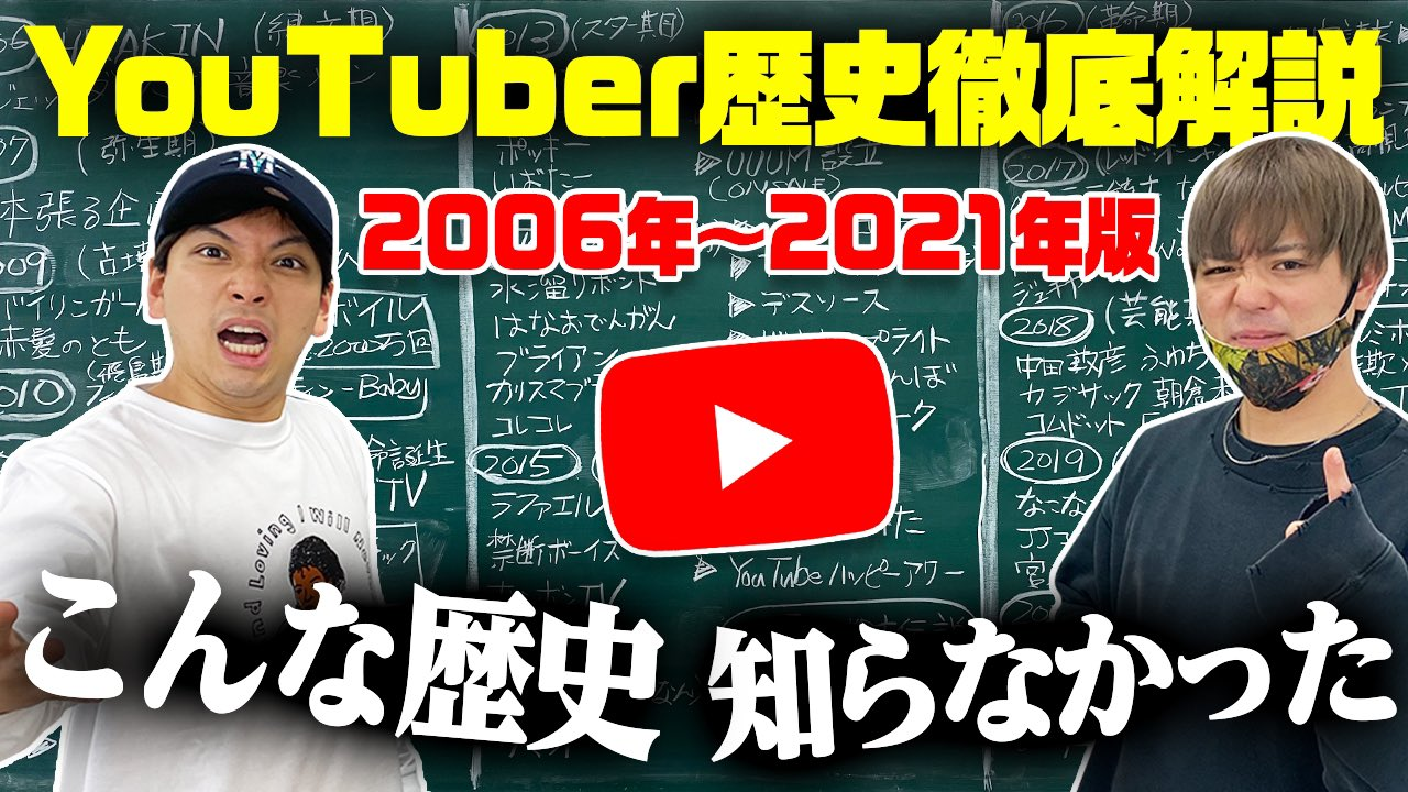 JJコンビ YouTubeの歴史